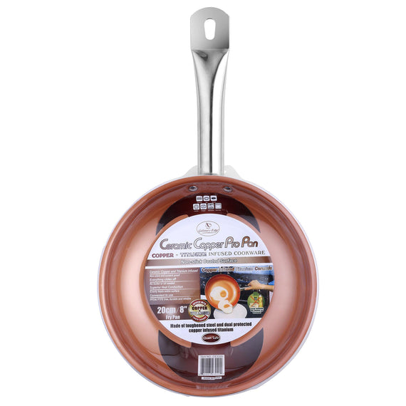 COPPER CERAMIC NONSTICK - 8 IN (20CM) FRYPAN