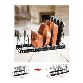 Expandable and Adjustable Kitchen Storage Rack--MARBLE FINISH