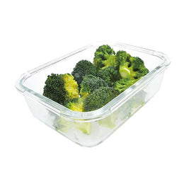 GLASS FOOD STORAGE CONTAINER WITH VENTED SNAP LID, 1100ML/37OZ