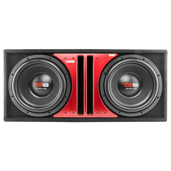 "DS18 Z-VX Dual 12"" Bass Sub woofer 2900W DVC 4-ohm In Ported MDF Box"