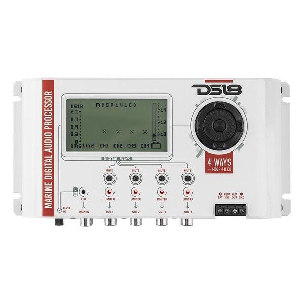 DS18 MDSP-14LCD Marine DSP 4 Way Digital Processor 2 inputs 8 outputs Crossover