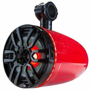 "Tower Speakers Hydro 8"" Wakeboard Pod RGB LED ATV UTV Boat Red DS18"