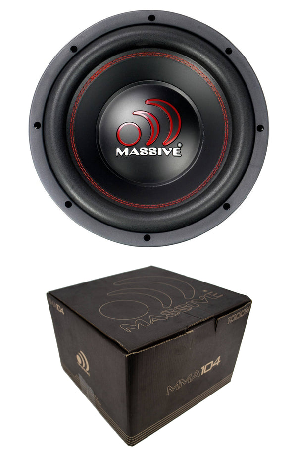 10 Subwoofer Massive Audio Mma104 1000W Dual 4-Ohm Car Stereo Subwoofers