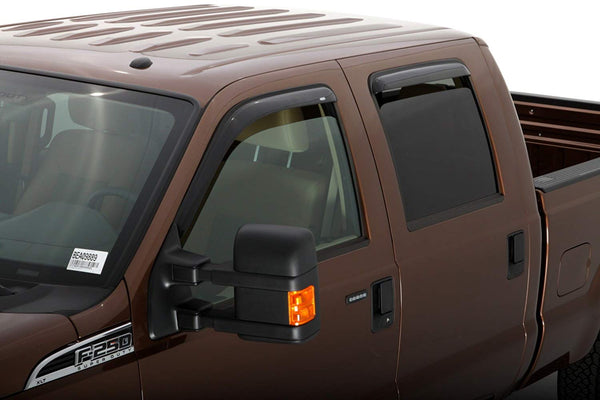 Rain Guards Low Profile 3M Smoked 99-2016 Ford F250/350/450/550 Super Cab Consumer Electronics >