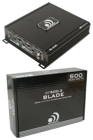 Massive Audio Blade BP500.2 V2 2 Channel 500 Watt 2 Ohm Stable Amplifier