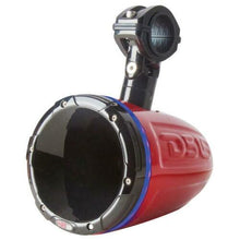 "Load image into Gallery viewer, HYDRO 1.75"" Driver Wakeboard Pod Tower Speaker 900W Red RGB LED Light"