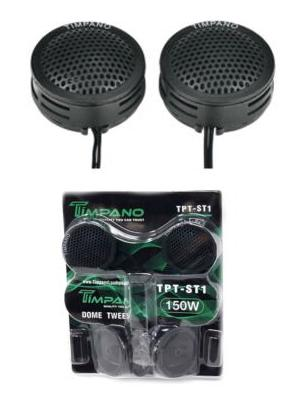 Timpano TPT-ST1 Tweeters Super Radio 1 Pair 150W 4 Ohm Dome Crossover
