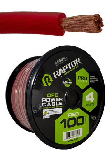50 FT Red 4 Gauge OFC Copper Power Cable Wire Battery True GA