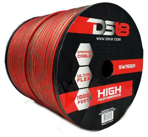 16 Awg True Ga Speaker Wire 1000 Ft Red Black Zip Power Ground Ds18 Ultra Flex Consumer Electronics