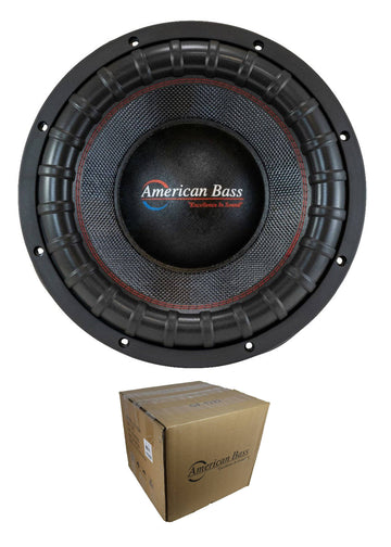 "American Bass 12"" Godfather 6000W Dual 2 Ohm Subwoofer GODFATHER12 D2"