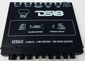 DS-KEQ4LD DS18 4 Band Graphic Equalizer Six Channel Line Driver Subwoofer Level