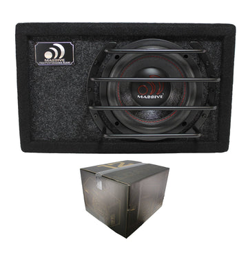 "Massive Audio 12"" 600W Dual 4 Ohm Loaded Subwoofer Enclosure BT-12"