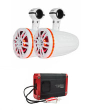 "Load image into Gallery viewer, NXL6TPWNEO WHITE 6.5"" MARINE POD SPEAKERS + NXL200.2D 600W WATERPROOF AMP"