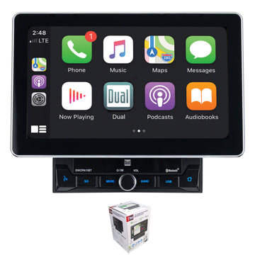 "Dual DMCPA11BT 10"" Touchscreen Bluetooth Apple CarPlay 2 Din Multimedia Receiver"
