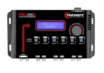 "Digital Equalizer 2 Ch 3 Band Taramps PRO2.6S + 2 x 18"" 2 Ch RCA M2M"