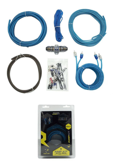 8 Gauge Amp Wire Kit Amplifier Install Wiring AWG Cable Raptor R2AK8