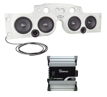 2300W Jeep White JK/ JKU Soundbar + 3550W 1Ch Mini Digital Bass Amp TPT3000EQ