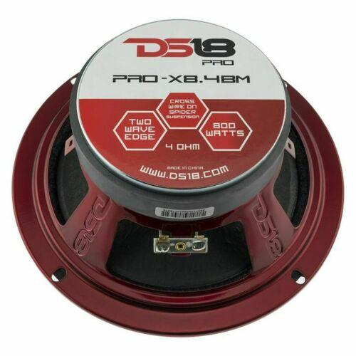 DS18 4 Channel Amplifier 4x 8.4BM Mid range Speakers TW120 Super Tweeters