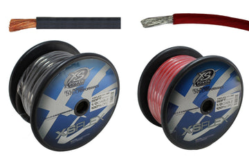 50FT Black + 50FT Red Copper OFC 1/0 Ga Power Ground Wire XS Power