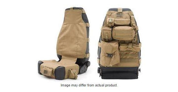 Single Jeep Seat Cover MOLLE/PAL System Coyote Tan 2007-2018 Jeep Wrangler JK