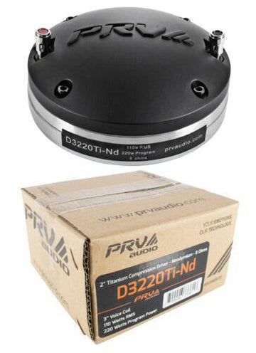 PRV Audio D3220TI-ND Compression Driver Magnet 220 Watts 8 Ohm Pro Car Audio
