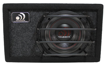 "Massive Audio 6.5"" 500W Dual 4 Ohm Loaded Subwoofer Enclosure BG-6"