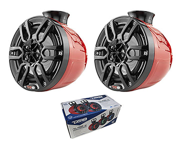 "Pair of DS18 HYDRO 6.5"" 600W 4 Ohm Wakeboard Pod Tower Speakers NXL-PS6RD"