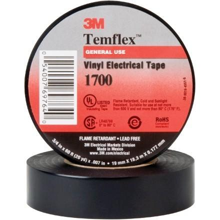 10 Pack Of Temflex 3 4 X 60 Heat Resistant 3m Vinyl Electrical Tape Big Jeff Online Inc