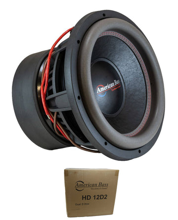 "American Bass 12"" HD Series 4000W Dual 2 Ohm Subwoofer HD-12-D2"