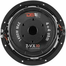 "Load image into Gallery viewer, 10"" Subwoofer 1400W Dual 4 Ohm Car Bass Sub Woofer Speaker DS18 Elite Z-VX10.4D"