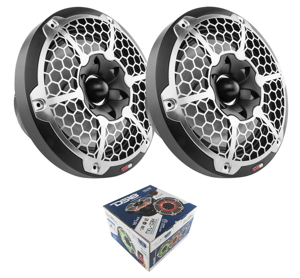Pair Of Black Nxl-10 10 2-Way 1800W Marine Speakers Rgb Led Consumer Electronics > Vehicle & Gps