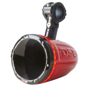 "HYDRO 1.75"" Driver Wakeboard Pod Tower Speaker 900W Red RGB LED Light"