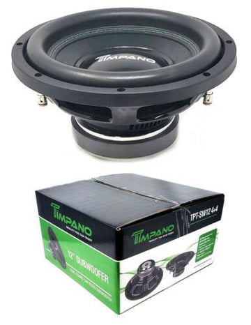 "1x 12"" Pro Audio Bass Subwoofer Dual 4 Ohm 400 Watts Timpano TPT-SW12 4+4"