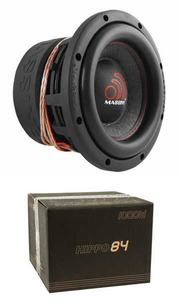 "Massive Audio HIPPO84 8"" 1000 Watt Dual 4 Ohm Voice Coil Competition Subwoofer"