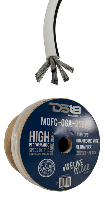 10FT DS18 0GA Marine Ground Wire OFC Tinned Copper Cable Battery