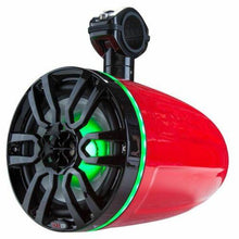"Load image into Gallery viewer, Tower Speakers Hydro 8"" Wakeboard Pod RGB LED ATV UTV Boat Red DS18"