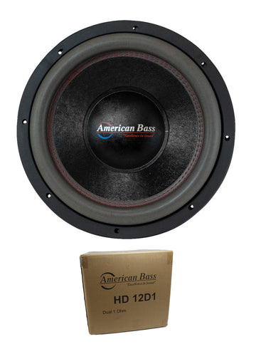 "American Bass 12"" HD Series 4000W Dual 1 Ohm Subwoofer HD-12-D1"