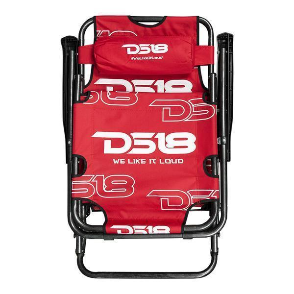 Ds18 Long Beach Tailgate Car Audio Show Folder Lounge Chair With Headrest Red Other