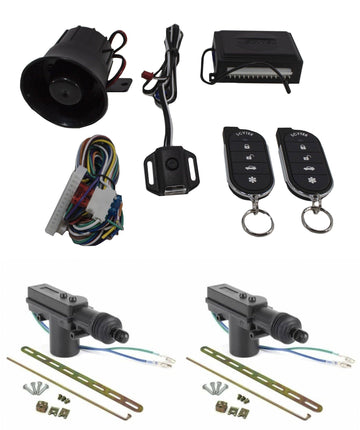 Car Alarm Anti Theft Security System G27 Scytek + 2 x Power Door Lock Actuators