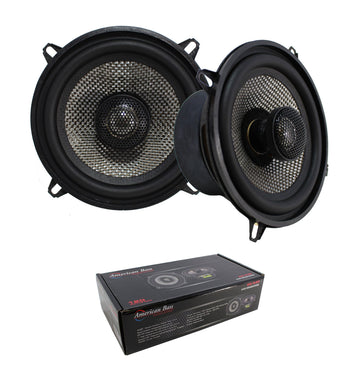 "Pair of 5.25"" 2 Way Coaxial Speaker w/ Neodymium Swivel Tweeter 120W 4 Ohm SQ 5.25"
