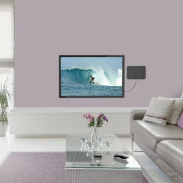 Antenna Digital HD TV Amplified Mile Ultra Thin 60 Miles Range Indoor 1080P 4K