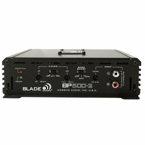 Massive Audio Amplifier BP500.2 Car Stereo 2 Channel 500W 2 OHM