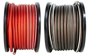 4 AWG 20FT Red + 20FT Black Power Ground Wire DS18 Cable Copper Mix True GA