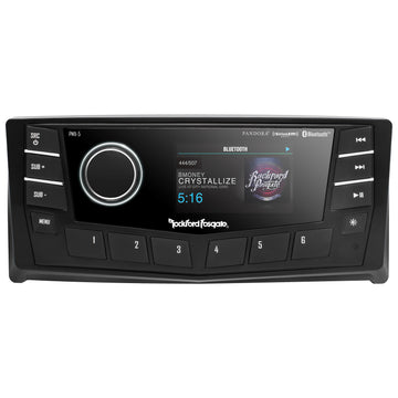 "Rockford Fosgate 2.7"" Bluetooth Marine Radio with AM/FM/WB/AUX/USB & CANbus"