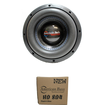 American Bass HD Series Subwoofer Dual 4 Ohm Voice Coil, 800W AB-HD-8-D4