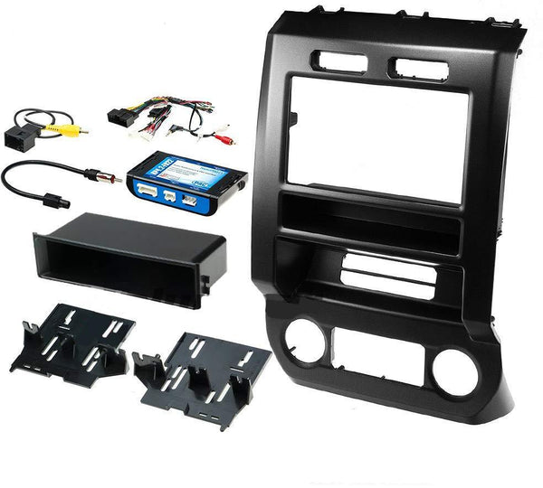Double Din Rpk4-Fd2201 Stereo Radio Dash Install Kit 2015-2017 Ford F150 F250 Consumer Electronics >