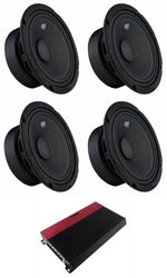 4X Pro-Gm8 Mid Range Speakers + Slc-X1850.4 4 Channel 1850 Amplifier Consumer Electronics > Vehicle