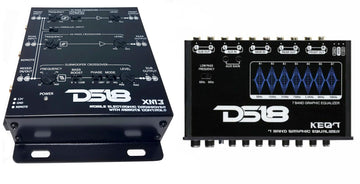 DS18 Combo KEQ7 7 Channel Equalizer + XM3 3 Way Electronic Crossover
