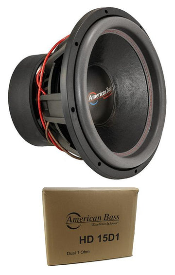 "American Bass 15"" HD 4000W Dual 1 Ohm Competition Subwoofer HD-15-D1"