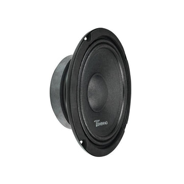 "Timpano 1x 800W 4 Ch Amp + 4x 8"" Slim Mid Speaker + Set of Black Tweeters"